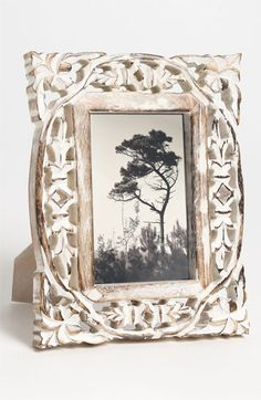 Carved Wood Picture Frame (4x6) available at Nordstrom