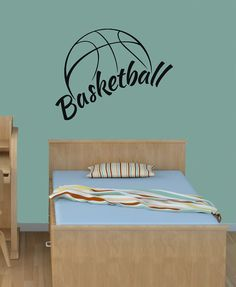 basketball ball sport game title Decal Sticker by VinylDecals2U, $25.00