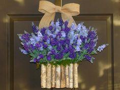 spring wreath lavender wreath Easter wreaths birch by aniamelisa