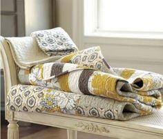 Comfy quilts!  http://www.ballarddesigns.com/lorraine-quilted-bedding/linens-fabrics/bedding/204166