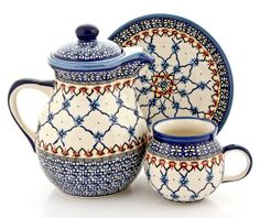 Ceramika WIZA presents new pattern from their new collection. Polish pottery :)