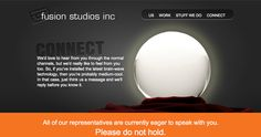 Connect page, Fusion Studios Brain Waves, Connection, Studios, Design Inspiration, Messages, Website, Feelings, Cool Stuff