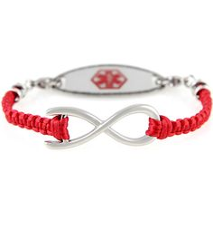 Show support and raise awareness with our Awareness in Red Medical ID Bracelet | Lauren's Hope (from $49.95)