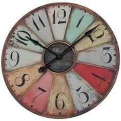 """29"""" Paris Wall Clock Vintage Fleur De Lis TG http://www.amazon.com/dp/B004AX6TIA/ref=cm_sw_r_pi_dp_x8Tvvb1HK069K"""