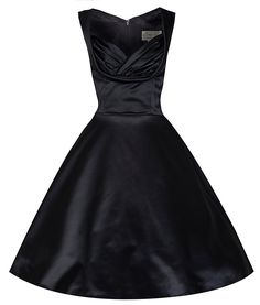 Lindy Bop 'Ophelia' Chic Vintage 1950's Black Satin Evening/Cocktail Dress -- Quickly view this special  product, click the image : Women clothing