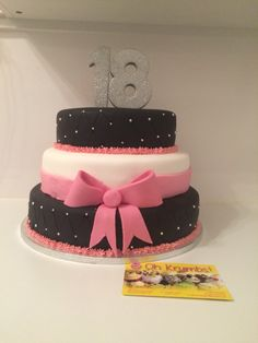 3 tier 18th cake https://www.facebook.com/pages/Oh-Krumbs/656930244374482