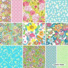 Liberty Fabric Pack Bloomsbury Gardens in Pastel Liberty Fabric Pack Bloomsbury Gardens in Pastel fat quarter fabric bundle from Eclectic Maker [LL11FQBGPastel] : Eclectic Maker, patchwork, quilting and dressmaking fabric, patterns, habberdashery and notions.
