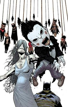The Ventriloquist usr multiple dummies such as Scarface to interact with people and commit crimes.