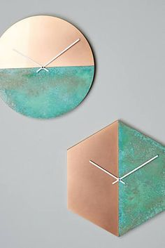 Geometria Wall Clock - Anthropologie