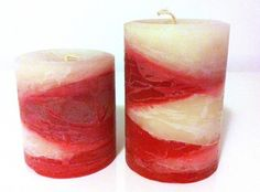 Handmade candles scented Home for the holidays