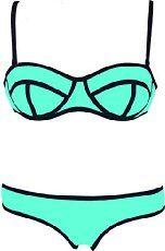FeelinGirl Women's Two Pieces Push Up Polyester Bikini Swimwear