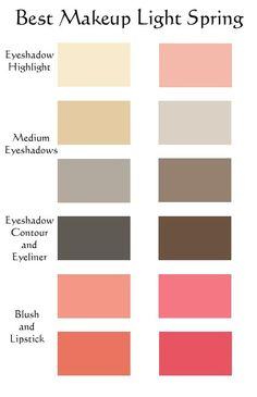 Make up for Primavera Clara – Table Ideas Bright Spring, Clear Spring, Warm Spring, Soft Summer, Light Spring Palette, Deep Autumn Color Palette, Deep Autumn Makeup, Best Lighting For Makeup, Makeup Light