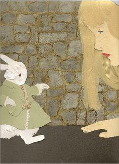 Alice in Wonderland - paper cutting