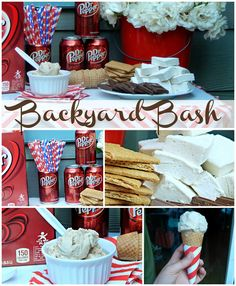 Our Little Backyard Bash with Dr. Pepper Ice Cream