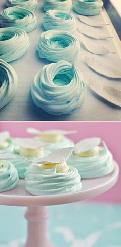 Pastel Meringue Nests | 31 Colorful Things To Make For Easter Brunch