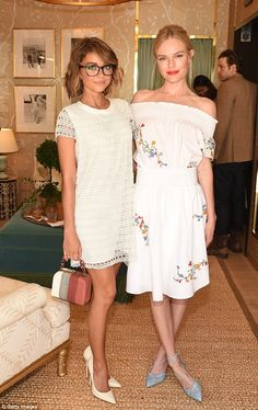 Heaven sent! Sarah Hyland matched Kate with her off-white dress...