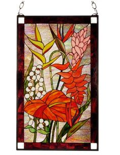 Taste of the Tropics Stained Glass Windowlight for Sale - Cottage & Bungalow