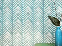 Papier peint bleu panama brasilia