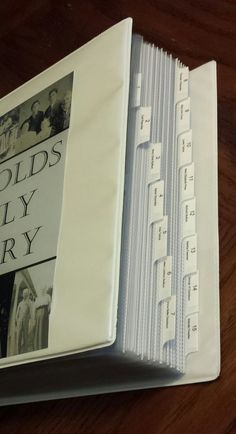 This is the third post in my Family History Binder series. Click here to go back to part 1. My family history binder is broken into 16 sections. The dividers I used are the Avery Clear Pocket …