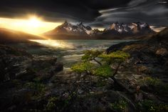 Sunset with Lenticular cloud in the Patagonia region Torres Del Paine National Park Chile | by JKboy Jatenipat. [24001604] #reddit
