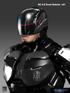 Robocop concept art by Eddie Yang Cyberpunk, Zbrush, Tactical Suit, Black Phone Wallpaper, Robot Design, Helmet Design, Fantasy Fiction, Fantasy Art, Sci Fi Armor
