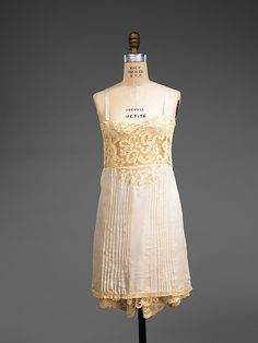 Lingerie  Date: ca. 1930 Culture: French Medium: silk, linen