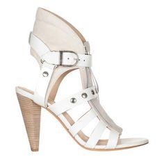 Sandales à talon cuir Xilly Blanc Iro prix Sandales Monshowroom 450.00 €