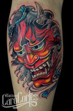 Hanya Caro cortes Colombian tattoo artist. carocortes.tumblr.com www.carocortes.com/ #Oriental #hanya #demon #tattoo #tatuaje #japones #demonio #hanyatattoo #carocortes #tattoocarocortes #carocortes.com #tattooartist #colombian