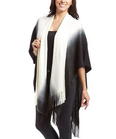 Love this Ivory & Taupe Ombré Shawl on #zulily! #zulilyfinds