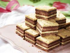 Pilóta szelet, a híres édesség kis testvére Hungarian Desserts, Hungarian Recipes, My Recipes, Dessert Recipes, Cooking Recipes, Torte Cake, Salty Snacks, Winter Food, Cake Cookies
