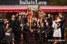 Italian fashion house Dolce & Gabbana unveils its spring summer 2016 campaign with a clear message - ITALIA IS LOVE! The upbeat cast photographed by label's Domenico Dolce features models Giulia Mannini (featured in January issue Fashion Advertising, Advertising Campaign, Dolce And Gabbana 2016, The Fashionisto, Summer Campaign, Foto Real, Stefano Gabbana, Spring Summer 2016, Men Summer