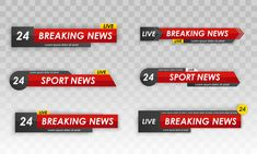 Tv news bar. television broadcast media ... | Premium Vector #Freepik #vector Radio Channels, News Channels, 20 Tv, Flat Tv, Live Television, Live Breaking News, Lower Thirds, Futuristic Background, New Backgrounds