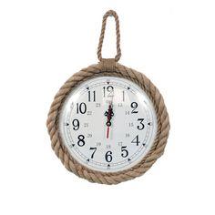 "DEI Latitude 38 12"" Jute Rope Trim Wall Clock & Reviews   Wayfair"
