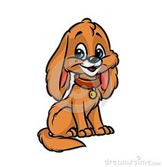 Dog puppy happiness cartoon illustration  isolated image animal character
