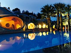 Pierre Cardin's Bubble House by Antti Lovag