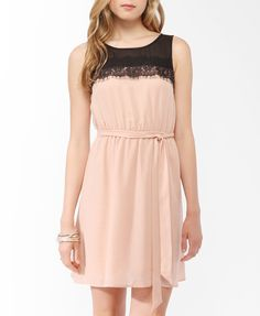Two-Tone Lace Trim Dress | FOREVER21