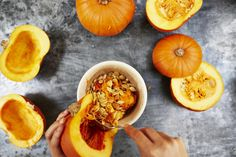 How to roast pumpkin seeds! Great tip for when you start carving :)