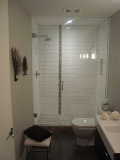 white tile stacked, gray grout...option for masterbath design