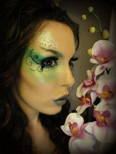 Green Garden Fairy Makeup Look (Halloween)