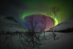 Aurora borealis, one of nature's magical forces.