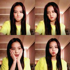 Jisoo on VLive today Blackpink Jisoo, Yg Entertainment, South Korean Girls, Korean Girl Groups, Divas, Boyfriend Photos, Blackpink Memes, Young Actresses, Jennie Lisa