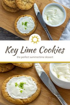 Bring the flavors of Key West home by making these easy and delicious Key Lime Cookies. Add lime zest to the cookies and frosting for an extra tart flavor. #keylime #cookies Key Lime Cookies, Roll Cookies, Yummy Cookies, Best Dessert Recipes, Fun Desserts, Cookie Recipes, Delicious Desserts, Healthy Recipes, Good Food