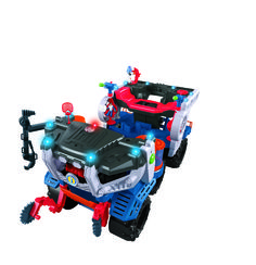 You won't believe the sheer size of the Imaginext Cosmic Chaos Super Nova Battle Rover ($120) — it's at least two feet tall — and it has tons of fun sounds and actions. Consider it an all-in-one playset, vehicle, and space shuttle! Aside from an alien-detecting chamber that lights up, the Battle Rover has 19 lights, disk launchers, 200 sounds and phrases, and a control panel that even toddlers can use.