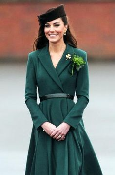 Kate done up for Saint Patrick's Day - Such a big deal. So flawless.