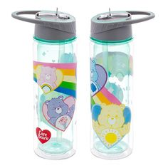 Do your everyday adventures leave you with a thirst that's out of this world? Quench it with this BPA-Free, reusable and recyclable water bottle featuring your favorite Care Bears. The Basics: Holds Dimensions: 3 x 4 x 10 inches. Cocina Star Wars, Baby Bling, Age Regression, Kids Room Wallpaper, Emoji, Quirky Kitchen, Care Bears, Wall Design, At Least