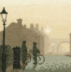 First Post Cross Stitch Kit - Silhouettes Cross Stitch Books, Cross Stitch Kits, Cross Stitch Patterns, Embroidery Needles, Cross Stitch Embroidery, Heritage Crafts, British Things, Sewing Accessories, Cross Stitching