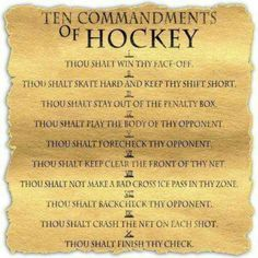 Hockey Commandments B Penguins Hockey Girls, Hockey Mom, Field Hockey, Hockey Stuff, Hockey Sayings, Boys, Kings Hockey, Stars Hockey, Funny Hockey Quotes