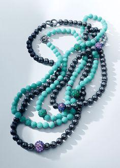 Osetra gemstone necklaces.