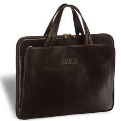 """Женская деловая сумка BRIALDI Deia (Дейя) brown     Аккуратная женская деловая сумка для бизнеса. Модель состоит из трех автономных отделений. Центральное отделение закрывается на молнию, внутри карман для важных документов и бумаг, здесь прекрасно разместится iPad или ноутбук до 14"""". Боковые отделения закрываются на скрытые магниты, в одном из отделений находится удобный бизнес-блок для канцелярии, визиток и мобильного телефона, второе отделение не содержит дополнительных карманов…"""