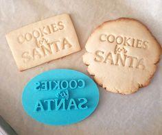 Cookies For Santa Cookie Stamp by SheyB Cookie Designs